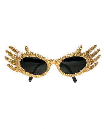 Space Jam Glitter Sunglasses Gold