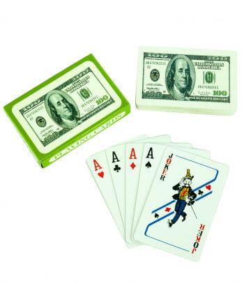 Playing Cards 100 Dollars Motive