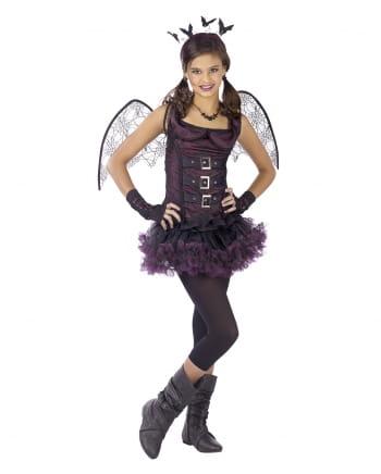 Spinnen Fledermaus Teenie Kostüm Violett