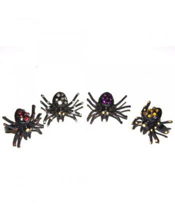 Spider Ring With Rhinestones