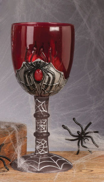 Cobwebs wineglass red