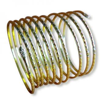 Spiral bracelet gold