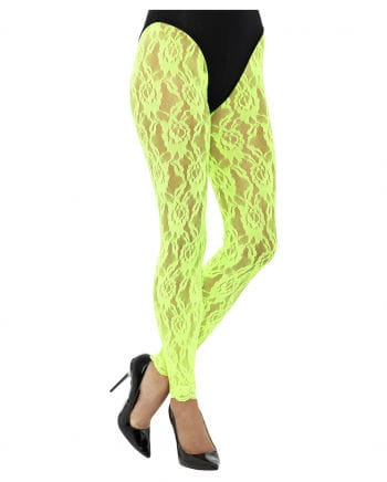 80s lace top leggings neon green