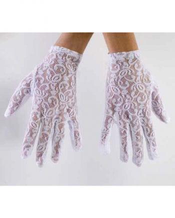 Lace gloves Short white