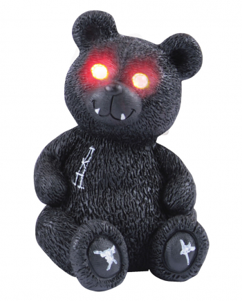 Spooky Teddy With Red LED Eyes