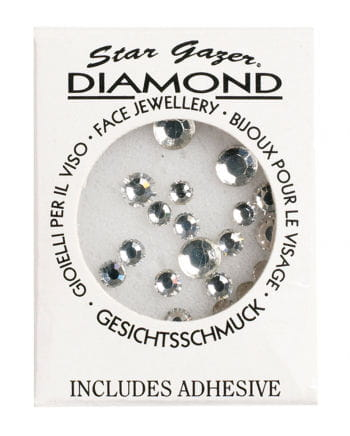 Stargazer Face Diamonds Silver