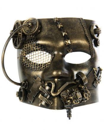 Steampunk Bauta Mask Gold