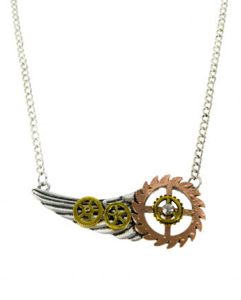 Steampunk Necklace Wings