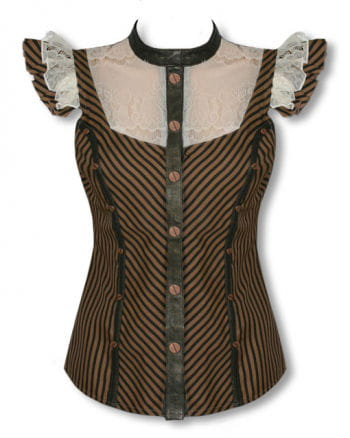 Steampunk blouse with lace