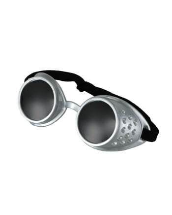 Steampunk Spiegelbrille Silber