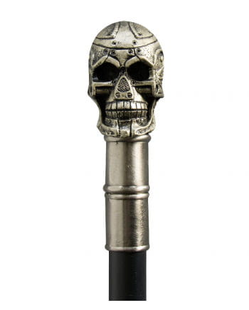 Steampunk walking stick with a skull