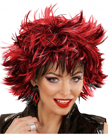 Steamy Wig Black-red For Halloween