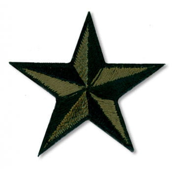 Stern Aufnäher Klein Grün Schwarz