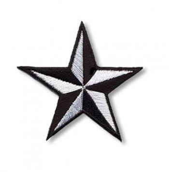 Star Patches Small black and white