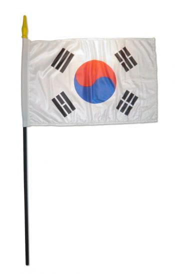 Stockflagge Süd Korea