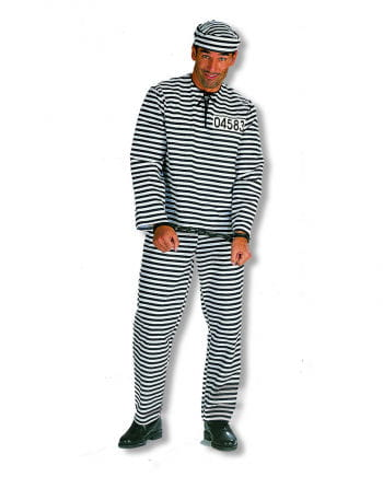 Convict Costume Plus Size
