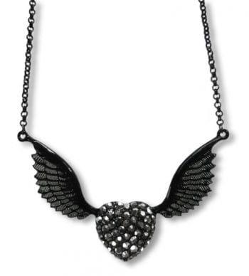Strass Halskette mit Flügelherz