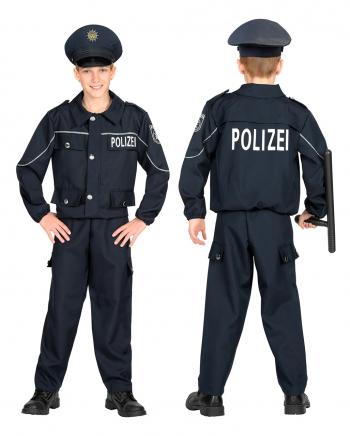 Streifenpolizist Kostüm für Kinder Blau