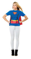 Supergirl T-Shirt with Cape XL