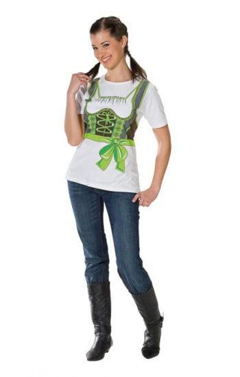T-Shirt Dirndl grün