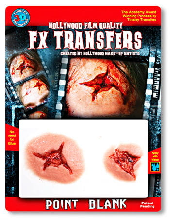 3D Tattoo wound gunshot and stab wound