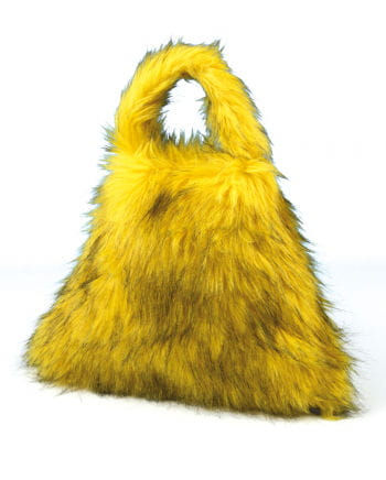 Techno plush bag yellow / black