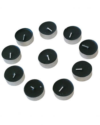 Black Tealights Set of 10