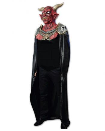Teufel Latex Maske mit Umhang