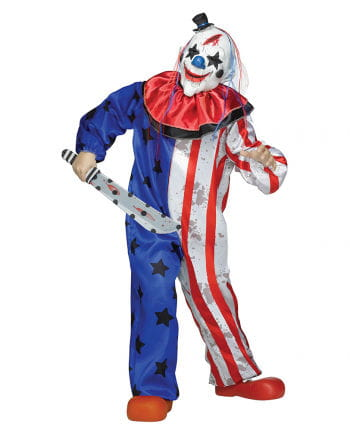 Horror circus clown costume with mask