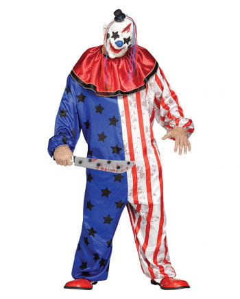 Horror Zirkus Clown Kostüm mit Maske PLUS SIZE