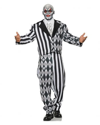 Bad Harlequin Costume Black-white