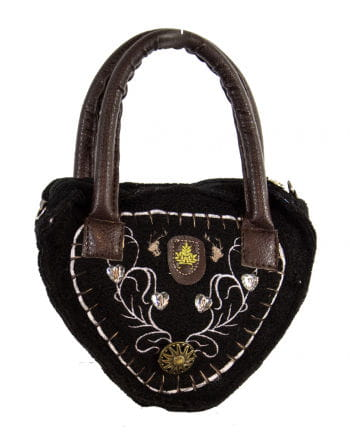 Tiroler Damentasche Deluxe schwarz
