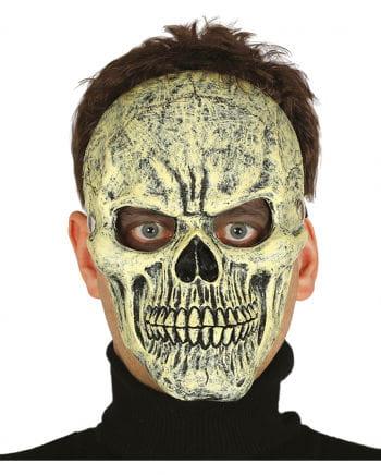 Skull Half Mask Beige