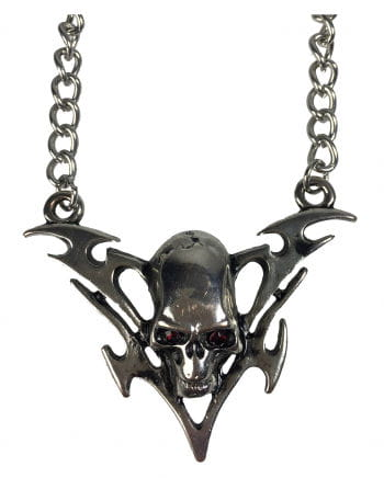 Skull And Crossbones Necklace With Tribal