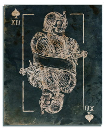 Skull King of Spades Canvas Print