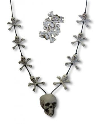 Skull Necklace and Bracelet