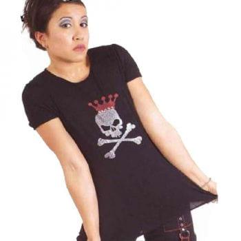 Black Shirt with Glitter Print