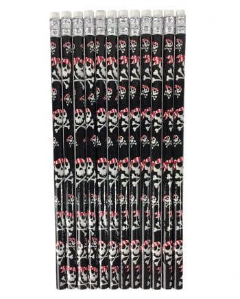 Skull Pirate Pencils 12 Pcs