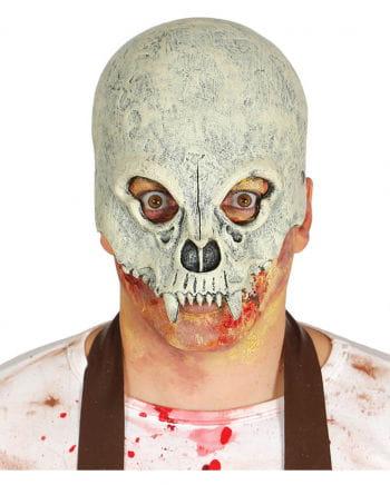 Totenschädel Halbmaske für Halloween