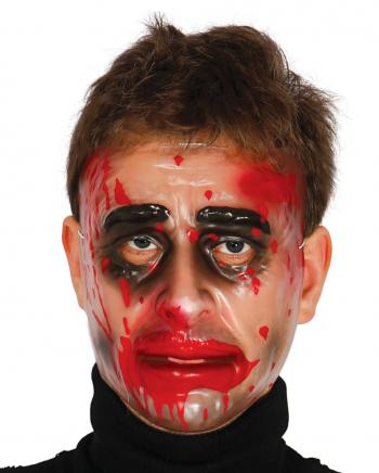 Transparente Männer Maske mit Blut