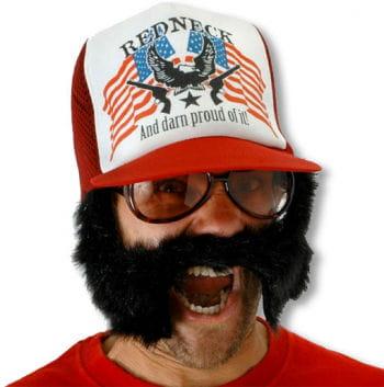 Baseball cap with beard