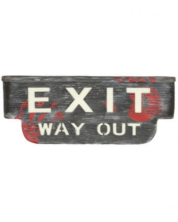 Exit Way Out Sign With Light & Sound
