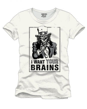Uncle Sam I Want Your Brains T-Shirt