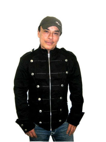 schwarze Uniformjacke Gr Medium