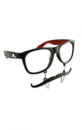 Vampir Brille mit Schnurrbart