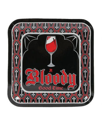 Vampire Party Paper Plate 8 St.