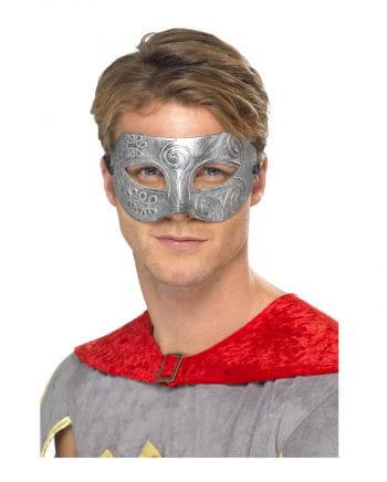 Venetian mask Colombina Silver Metallic