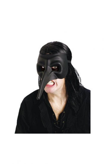 Venetian beak mask matt black