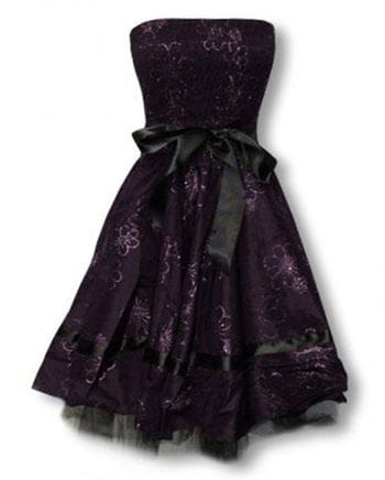 purple evening dress with flower print S