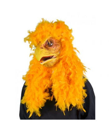 Super chicken mask with feathers